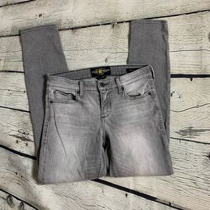 LUCKY BRAND Grey Distressed Skinnies